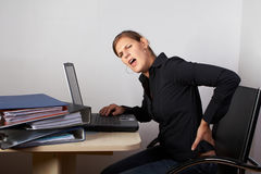 Woman in severe pain Stock Photos