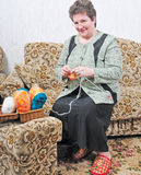 Woman with sewing Royalty Free Stock Photo