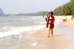 Woman sexy and bikini relax daylight on beach. At Bang Beot beach, Chumphon Province Thailand Royalty Free Stock Images