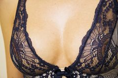 Woman  sexy boobs lace Royalty Free Stock Photography