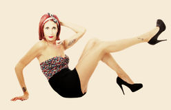 Woman sexy pin up Royalty Free Stock Photo