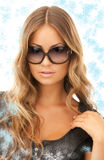 Woman in shades Royalty Free Stock Photos