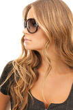 Woman in shades Royalty Free Stock Photography