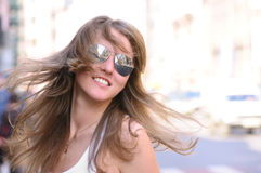 Woman shakes her hair Stock Photography