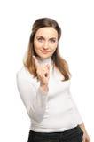 Woman shaking finger Stock Photo