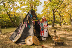 Woman - shaman Stock Photography