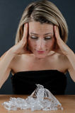 Woman and shards Royalty Free Stock Photo