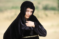 Woman in shawl Royalty Free Stock Photos