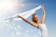 Woman with a shawl Royalty Free Stock Images