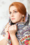 Woman and shawl Royalty Free Stock Photo
