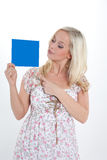 Woman with a sheet Stock Photo
