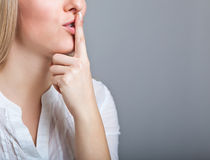 Woman shh Royalty Free Stock Images