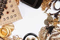 Woman shiny accessories. Royalty Free Stock Image