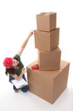 Woman Shipping Royalty Free Stock Photos