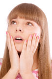 Woman in shock Stock Images