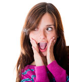 Woman in shock Stock Image