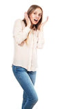 Woman in shock Royalty Free Stock Image