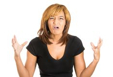 Woman shocked Stock Photo