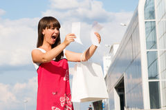 Woman shocked Stock Photography