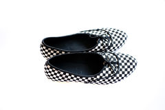 Woman shoe. Moder woman shoe on white background Royalty Free Stock Photography
