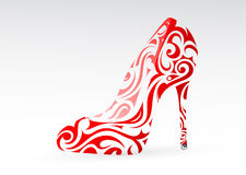 Woman shoe ornament Royalty Free Stock Images