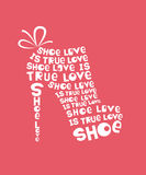 Woman shoe from quotes Royalty Free Stock Photos