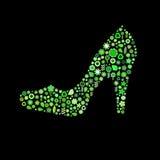 Woman shoe shape Royalty Free Stock Photography