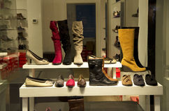 Woman shoe store stock image