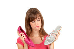 Woman and shoes. Stock Image