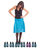 Woman and shoes Royalty Free Stock Image