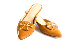 Woman shoes. Isolated on the white background Stock Image
