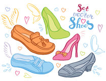 Woman shoes Stock Images