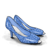 Woman shoes with high heels. Fashion illustration Royalty Free Stock Photography