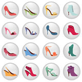 Woman shoes icon Stock Images