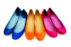 Woman shoes isolated Stock Photos
