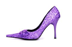 Woman shoes isolated Stock Image