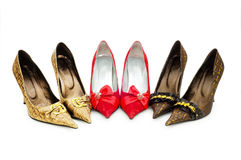Free Woman Shoes Isolated Royalty Free Stock Image - 9319766