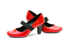 Woman shoes isolated Royalty Free Stock Photos