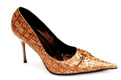 Woman shoes isolated on the wh. Ite  background Royalty Free Stock Photo