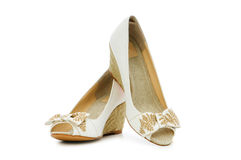 Woman shoes isolated on the white Stock Image