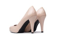 Woman shoes isolated on  white background Royalty Free Stock Image
