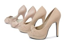 Woman shoes isolated on  white background Stock Photos