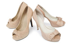 Woman shoes isolated on the white background Royalty Free Stock Images