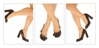 Woman shoes and legs Stock Photo