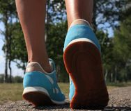 Woman shoes running Royalty Free Stock Photo