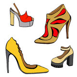 Woman shoes set Royalty Free Stock Photography