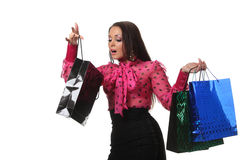Woman shooping Royalty Free Stock Photography