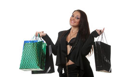Woman shooping Stock Photos