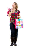 Woman with shooping bags Stock Photos
