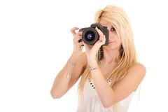 Woman shooting picture Stock Photo